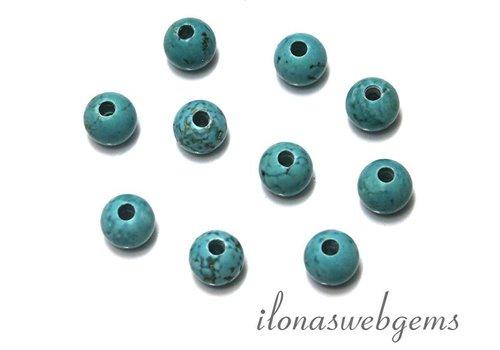10 stücke Howlith Perlen rund mit gross Innenloch