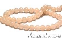 Peach Quarz Perlen rund ca. 6mm