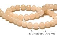 Peach Quarz Perlen rund ca. 8.5mm