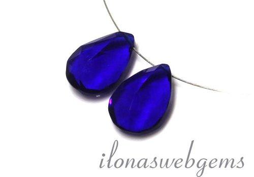 1 Paar Swiss Blue Quarz