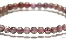 Erdbeere Quarz Perlenarmband ca. 5,3 mm