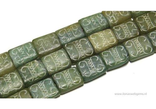 Jade kralen met groot rijggat