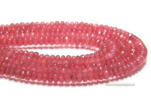 Jade beads facet roundel app. 4.5x2mm