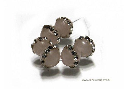 6 pieces Jade bead round app.6mm