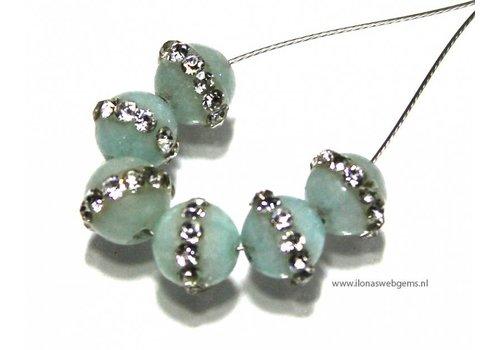 6 stücke Jade Perle rund ca.6mm