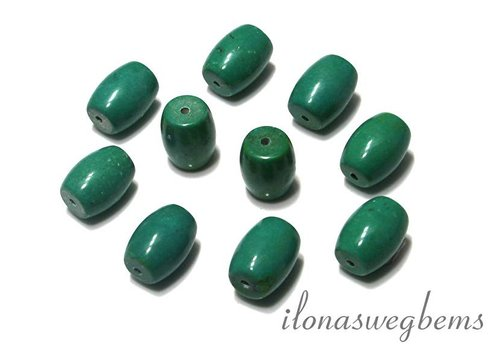 10 pieces Turqoise beads app. 20x15mm with great Inside hole