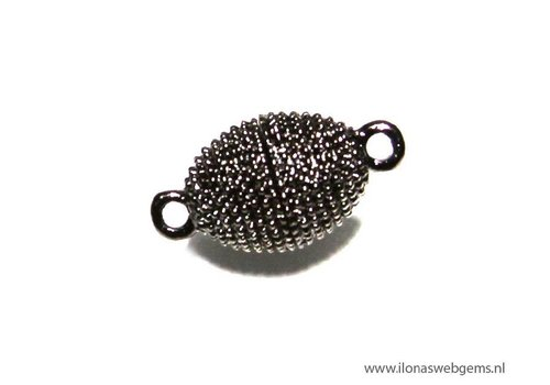 magnetclasp old Silvercolor app. 19x10mm