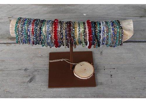 Counter set 1: 100 pieces Swarovski style Crystal braceletjes