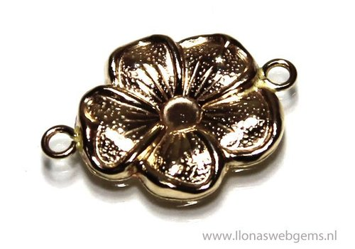 Gold Filled connector flower