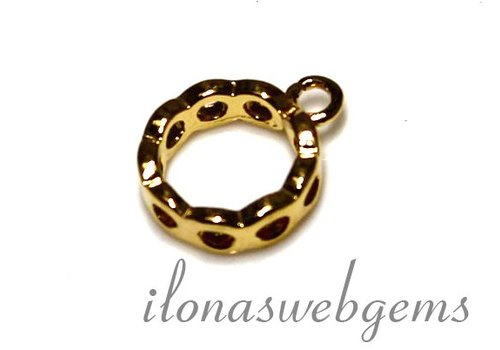 1 Vermeil spacer met ring ca. 12.5x10x3mm
