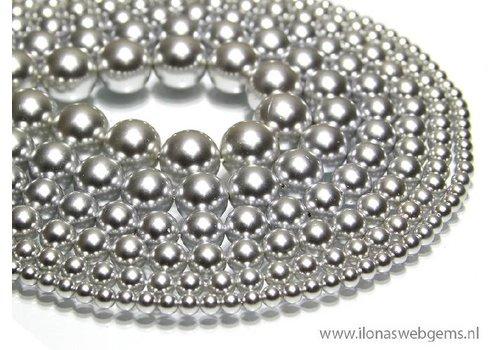 8 stuks Shell Pearl rond ca. 8mm