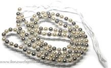 Shell Pearl wit en zilver rond 5mm