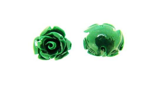 Mini Koraal roosje groen (kraal)