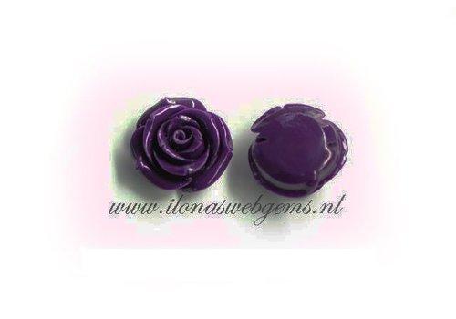 Koraal roos kraal paars grote maat