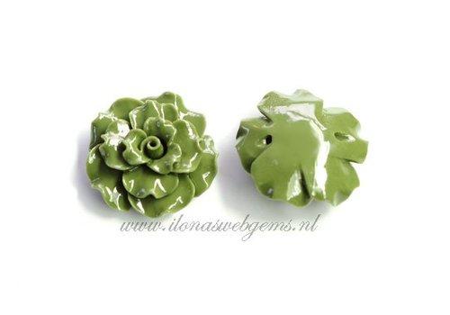 Koraal roos kraal groen (kraal)