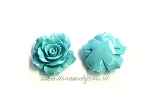 Koraal roos kraal turquoise