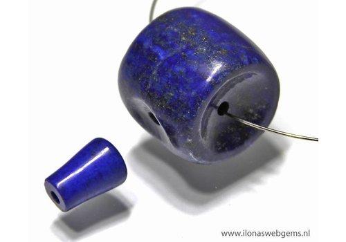 Lapis Lazuli Mala / Guru beads set 3 gats app. 32x19.5mm