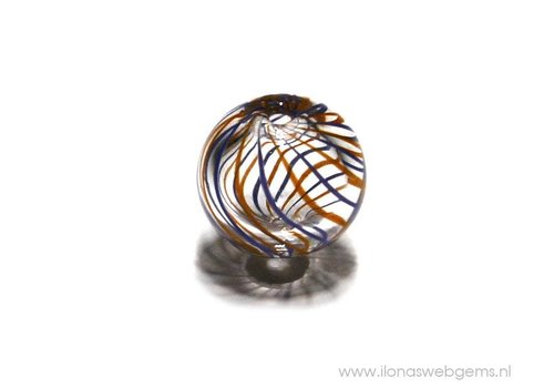1 stück Murano Glas Perle hol ca. 13mm
