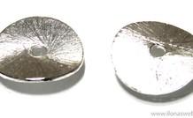 10 Stück mit Sterlingsilber überzogenen Chips ca. 14mm