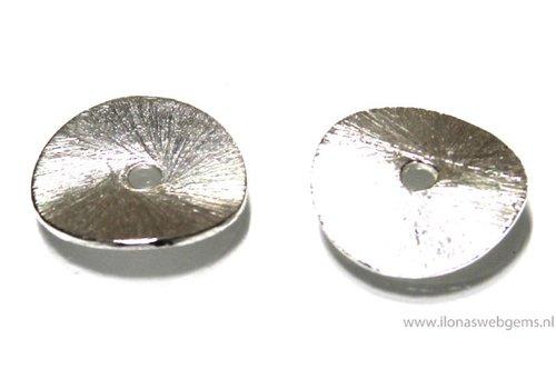 10 stuks met sterling zilver verzilverde chips ca. 14mm