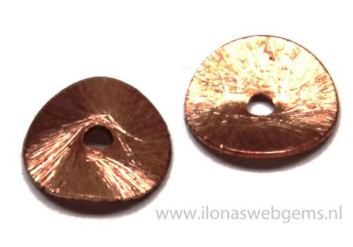 1 piece Rosé Gold plated chips 10mm