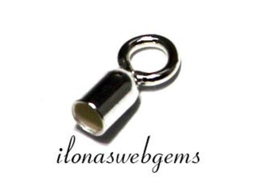 10 pieces Sterling Silver eindkap app. 2mm doornsede