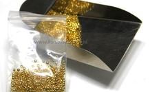 Knijpkraaltjes rond goudkleur ca. 3.5mm