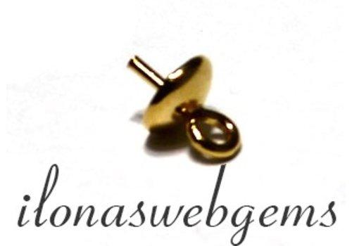 1 Vermeil pearl pendant / bead pendant