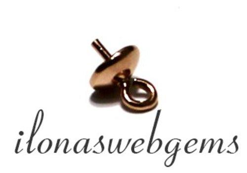 1 Rose Vermeil Perle Anhänger / Perlen Anhänger 5mm