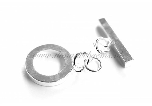 3 pieces kapittelclasp silvered app. 20mm