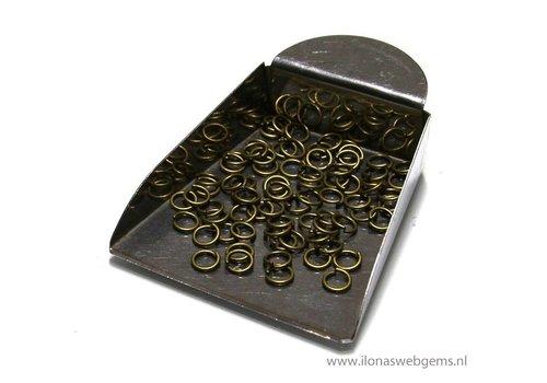 100 stuks bronzen open ringetjes