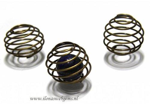 20 pieces Spiraal 'brass' app. 24x20mm