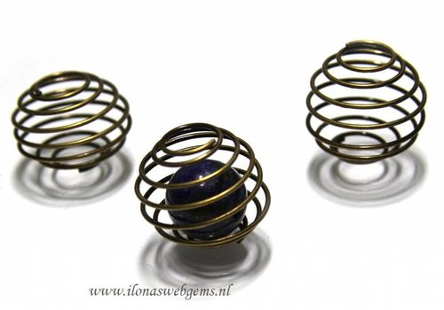 20 stücke Spiraal 'brons' ca. 24x20mm