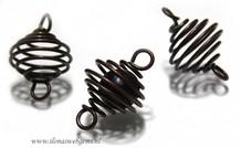20 stücke spiraal 'brons' ca. 30x20mm