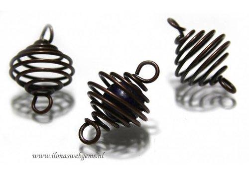 20 pieces spiraal 'brass' app. 30x20mm
