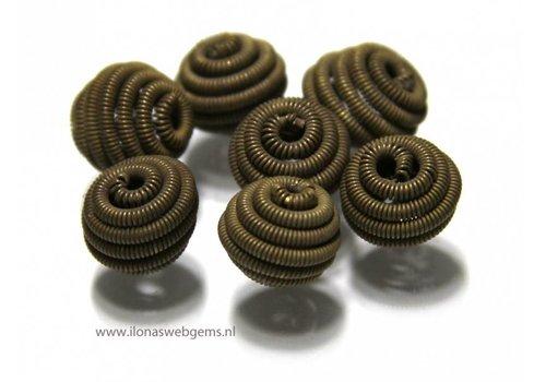 25 stuks bronzen kraal