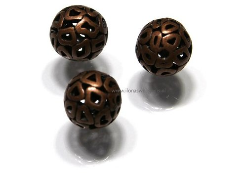 6 Stück Bronze Perle rund