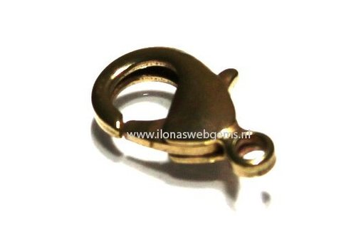 Lobsterclasp antique Brass L app. 15mm