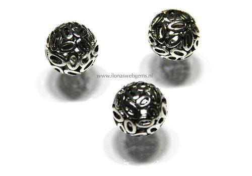 tin bead round 6 pieces