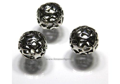 Tinnen Perle rund 6 stücke