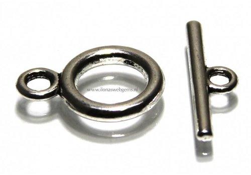 10 pieces tin kapittelclasp app. 14mm