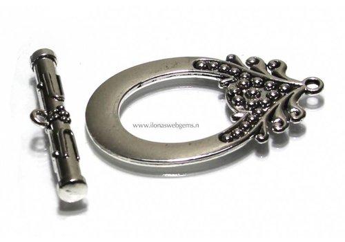 5 pieces tin kapittelclasp MEGA size app. 59x37mm