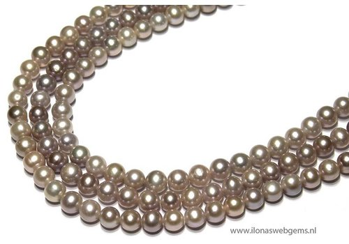 Fresh Water Pearls soft lila-zalm app. 8mm