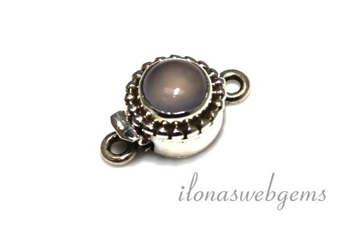 Sterling silver box clasp with Chalcedony