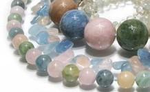 Beryll Edelstein Perlen