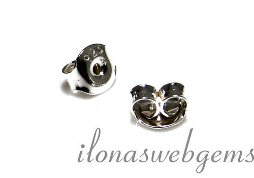 1 Paar Sterling Silber poussettes
