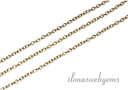10 cm 14k/20 Gold filled schakels / ketting 1mm