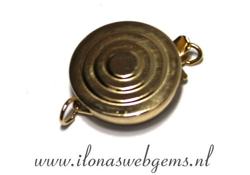 Goldfilled bakslotje ca. 14x12x4mm