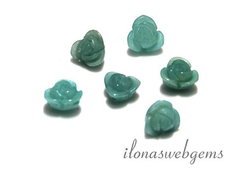 6 pieces gemstone rose Amazonite