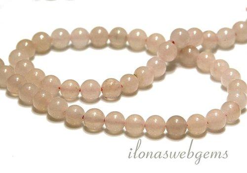Pink Aventurine beads around 6.5mm